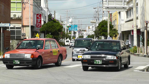 Rural Town Traffic in Okinawa Islands 05 Footage