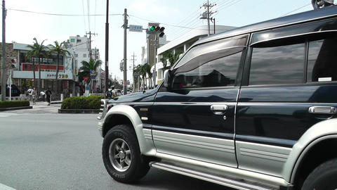 Rural Town Traffic in Okinawa Islands 07 Stock Video Footage