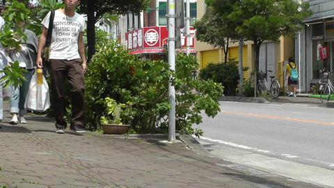 Rural Town Traffic in Okinawa Islands 15 Stock Video Footage