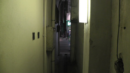 Scary Narrow Alley 02 handheld Footage