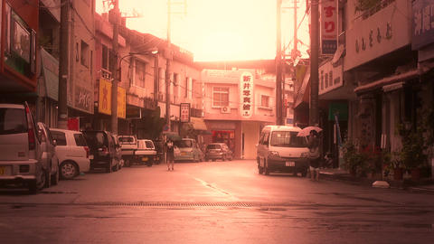Street in Okinawa Islands stylized 01 Stock Video Footage