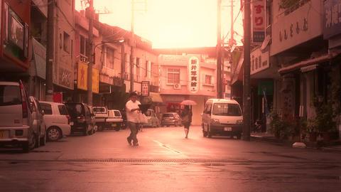 Street in Okinawa Islands stylized 01 Footage