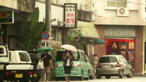 Street in Okinawa Islands stylized 03 Stock Video Footage