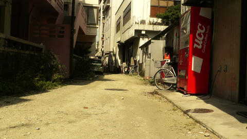 Street in Okinawa Islands stylized 05 Stock Video Footage