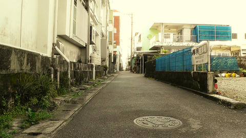 Street in Okinawa Islands stylized 07 Footage