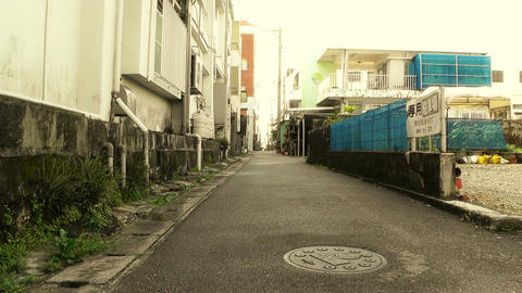Street in Okinawa Islands stylized 07 Stock Video Footage
