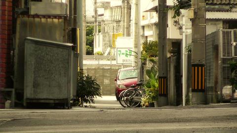 Street in Okinawa Islands stylized 09 Stock Video Footage