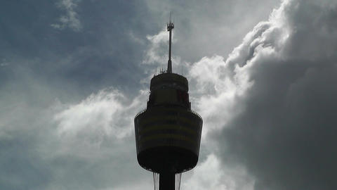 Sydney Centrepoint Tower and Clouds Timelapse 02 Footage