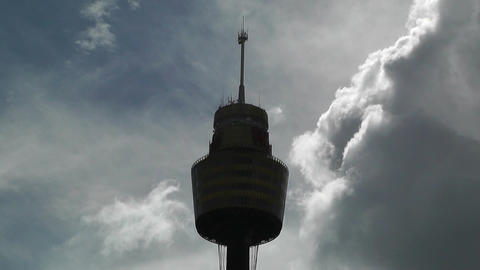 Sydney Centrepoint Tower and Clouds Timelapse 02 Stock Video Footage