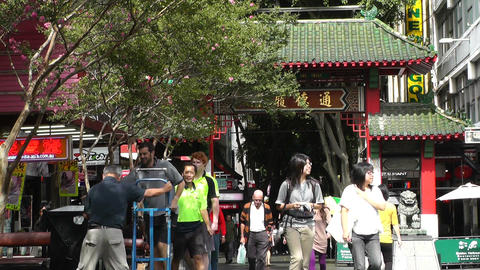 Sydney Chinatown 02 Stock Video Footage