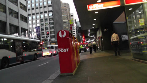 Sydney Downtown 04 60fps native slowmotion handheld Stock Video Footage