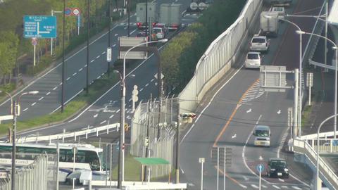 Tokyo Narita Airport 09 soft edges Stock Video Footage