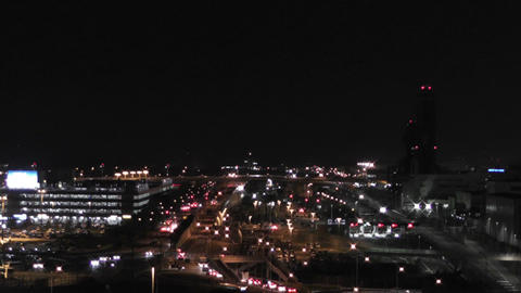 Tokyo Narita Airport at Night 01 Stock Video Footage