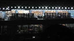Tokyo Narita Airport at Night 03 cargo Footage