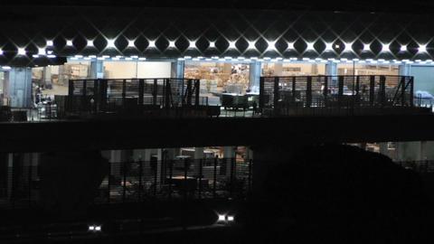 Tokyo Narita Airport at Night 03 cargo Stock Video Footage