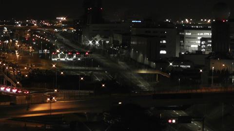 Tokyo Narita Airport at Night 05 Stock Video Footage