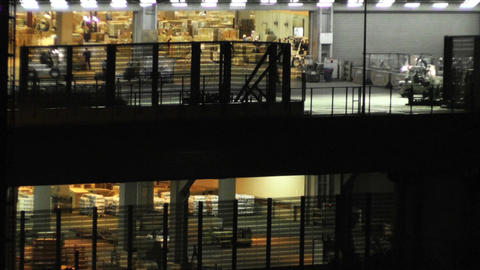 Tokyo Narita Airport at Night 11 cargo soft edges Stock Video Footage