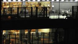 Tokyo Narita Airport at Night 11 cargo soft edges Footage