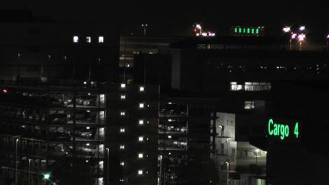 Tokyo Narita Airport at Night 13 Stock Video Footage