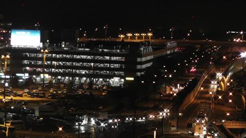 Tokyo Narita Airport at Night 15 traffic Footage
