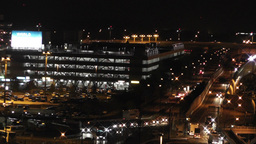 Tokyo Narita Airport at Night 15 traffic Stock Video Footage