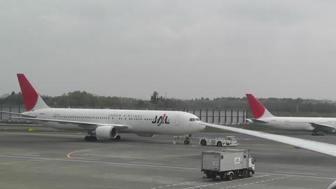 Tokyo Narita Airport Terminal 2 03 jal Stock Video Footage