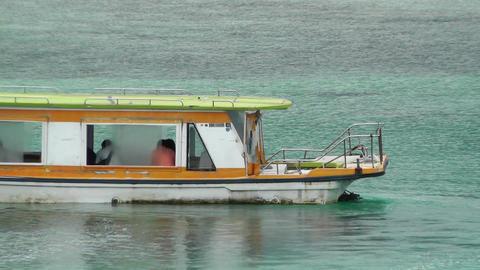 Vessel in Kabira Bay Ishigaki Okinawa Islands 03 60fps... Stock Video Footage