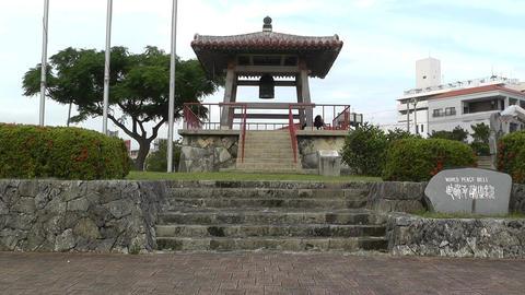 World Peace Bell in Ishigaki Okinawa Islands 01 Stock Video Footage