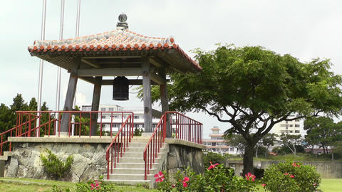 World Peace Bell in Ishigaki Okinawa Islands 03 Footage