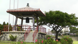 World Peace Bell in Ishigaki Okinawa Islands 03 Stock Video Footage