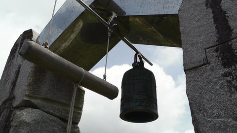 World Peace Bell in Ishigaki Okinawa Islands 05 Stock Video Footage