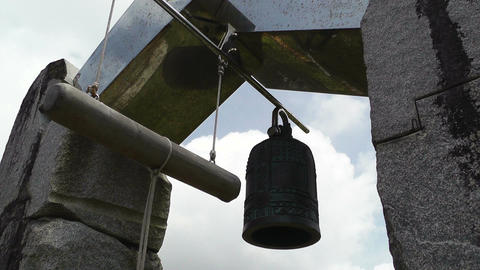 World Peace Bell in Ishigaki Okinawa Islands 05 Footage