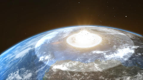 asteroid crash with the earth Animation