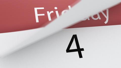 Calendar (week) Stock Video Footage
