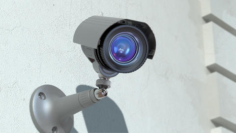 wondered surveillance camera Stock Video Footage