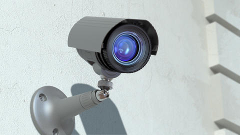 Wondered Surveillance Camera stock footage