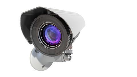 surveillance camera Stock Video Footage