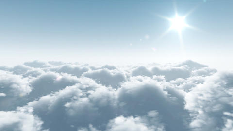 flight over clouds Stock Video Footage