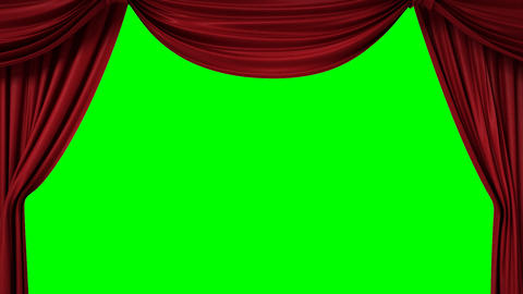 Opening and closing red curtain with spotlights Animation