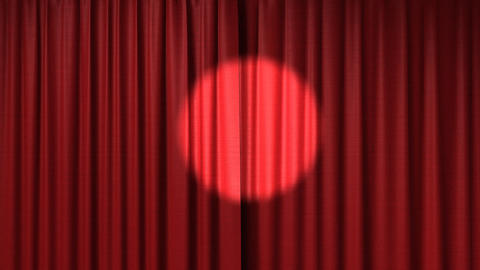 Opening red curtain Stock Video Footage