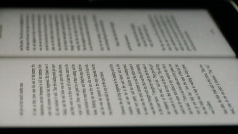 English Book on touch screen tablet computer ipad,Copy... Stock Video Footage