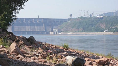 Krasnoyarsk Hydroelectric Dam 02 Stock Video Footage