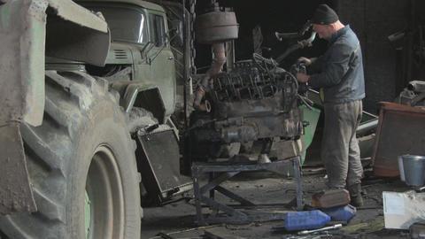 car repair Stock Video Footage
