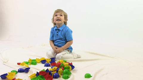 boy with toy Stock Video Footage