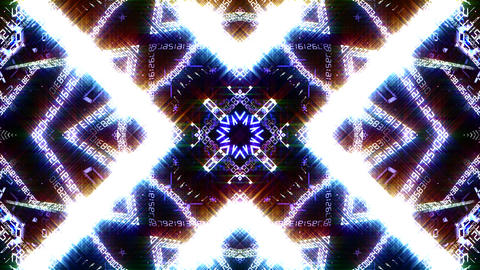 Kaleidoscope ND 2 Bg Number HD Stock Video Footage