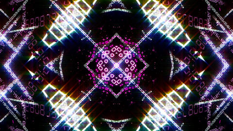 Kaleidoscope ND 2 Bg Number HD Animation