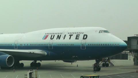 Beijing Capital International Airport 11 united Stock Video Footage