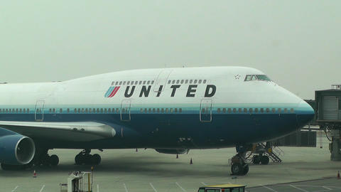 Beijing Capital International Airport 11 united Stock Video Footage