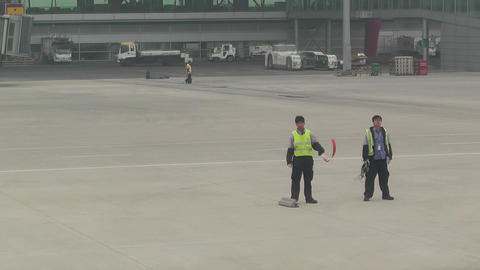 Beijing Capital International Airport 13 say goodbye handheld Footage