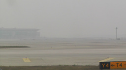 Beijing Capital International Airport 18 on the runway... Stock Video Footage